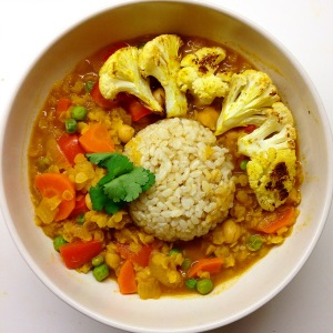 Coconut Curry and Red Lentil Stew